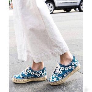 LOEFFLER RANDALL// alfie floral espadrille sneaker